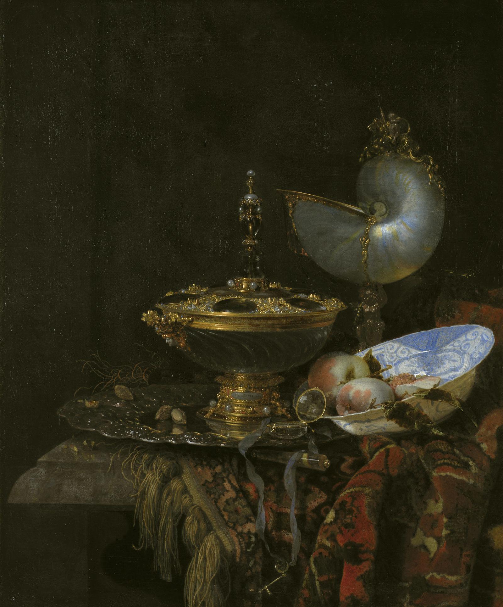 Willem Kalf, Pronk Still Life, 1678, National Gallery of Denmark, Copenhagen, Denmark
